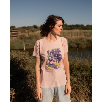 SIGNLE TREE - FADED PINK - T-SHIRT WOMAN